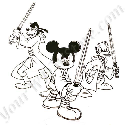 Disney Coloring Pages Star Wars : Your wdw store disney artist sketch star wars