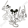 Disney Artist Sketch - Star Wars 2015 - Jedi Trio - Mickey Donald Goofy