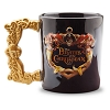 Disney Coffee Cup Mug - Pirates of the Caribbean Logo - Gold Handle