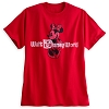 Disney ADULT Shirt - Minnie Mouse Classic Disney World Tee - Red