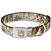 Disney Designer Pet Collar - Beauty and the Beast with Script