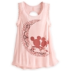 Disney WOMEN'S Shirt - Mickey & Minnie Mouse Tank Top - Pink