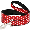 Disney Designer Pet Leash - Minnie Mouse - Red w/White Polka Dots