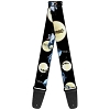 Disney Designer Guitar Strap - Nightmare Before Christmas Jack & Sally Logo