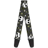 Disney Designer Guitar Strap - NBC Jack Expressions - Halloween Elements Grey