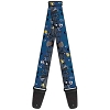 Disney Designer Guitar Strap - Nightmare Before Christmas Jack Skellington Graveyard Shift
