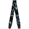 Disney Designer Guitar Strap - Nightmare Before Christmas Jack Skellington Sandy Claws and Oogie Boogie