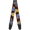 Disney Designer Guitar Strap - Winnie the Pooh And Friends Character Poses