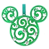 Disney Disc Ornament - Filigree Mickey Mouse - Green