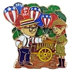 Disney Independence Day Pin - 2015 Up Carl and Ellie