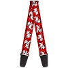 Disney Guitar Strap - 101 Dalmations - Red