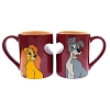 Disney Coffee Cup Mug Set - Lady and the Tramp - True Love