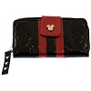 Disney Loungefly Wallet - Embossed - Minnie Loves Mickey - Black
