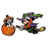 Disney Halloween Pin - Halloween - Minnie Witch and Figaro