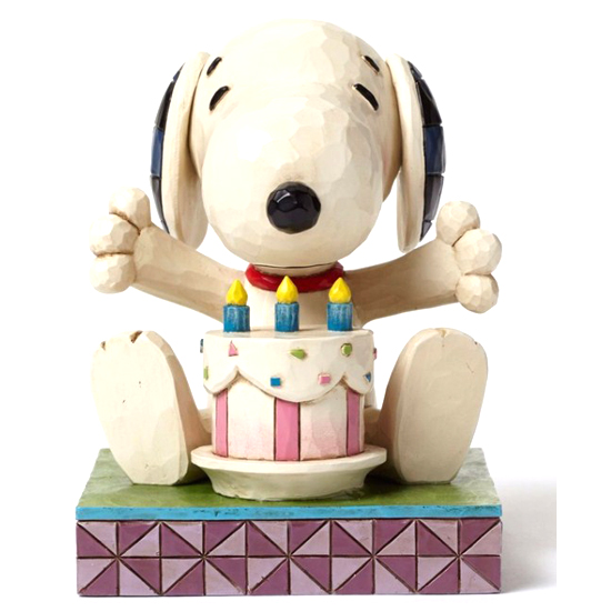 ... - Disney Figurine - Peanuts by Jim Shore - Snoopy with Birthday Cake