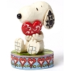 Peanuts by Jim Shore Figurine - Snoopy Holding Heart