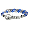 Disney Alex and Ani Charm Bracelet - Celebrate Wrap - Blue Silver