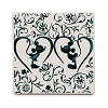 Disney Ceramic Tile - Mickey and Minnie Silhouette - Indigo