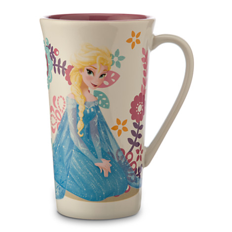 ... WDW Store - Disney Coffee Cup Mug - Disney's Frozen - Anna Flowers