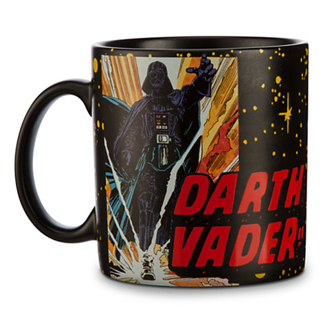 Disney Coffee Cup Mug  Star Wars Darth Vader Comic Strip p