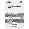 Disney Hairbow - Mickey Icon Hair Accessory - Silver Glitter