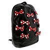Disney Backpack Bag - Minnie Bows - Black Faux Leather
