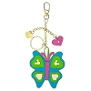 Disney Keychain Keyring - Butterfly - Metal Mickey Icon & Metal Hearts