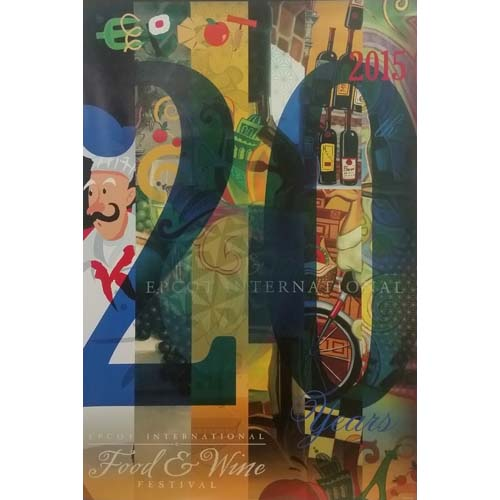 your wdw store - disney wall poster - food and wine festival 2015