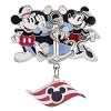 Disney Cruise Line Pin - Mickey and Minnie Mouse Anchor with Dangle