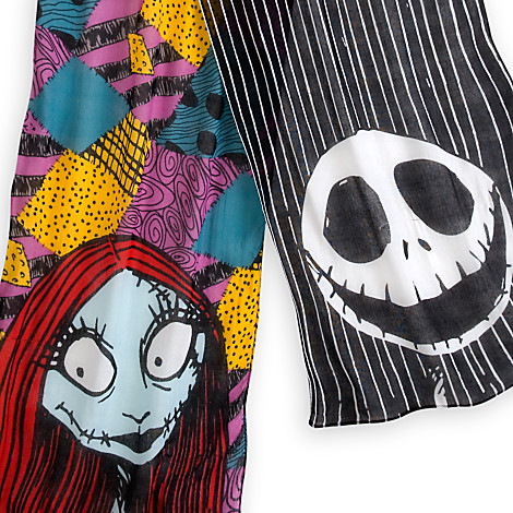 Disney Scarf Jack Skellington And Sally Scarf