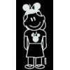 Disney Window Decal - Girl with Mickey Ears