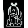Disney Window Decal - Little Dog with Mickey Icon Ears