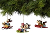 Disney Ornament Set - Traditions by Jim Shore - Mickey Sledding