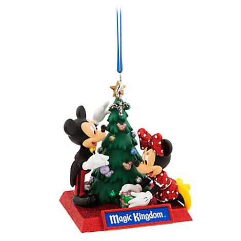 Disney Holiday Ornament - Mickey and Minnie Magic Kingdom Tree