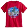 Disney Adult Shirt - Happy Holidays 2015 - Red Short Sleeve