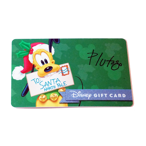 your wdw store disney collectible gift card 2015 holiday promo pluto gift. Black Bedroom Furniture Sets. Home Design Ideas