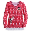 Disney LADIES Shirt - Holiday Mickey & Minnie - Faux Sweater