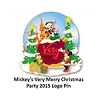 Disney Very Merry Christmas Party Pin - 2015 Mickey Minnie and Pluto