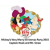 Disney Very Merry Christmas Party Pin - 2015 Hook and Smee