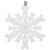 Disney Christmas Ornament - Snowflake w/Mickey Icons - Silver Glitter