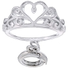 Disney Dangle Charm - Sterling Silver Cinderella Tiara