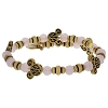 Disney Alex and Ani Charm Bracelet - Mickey Filigree Pink Bead Wrap - Gold