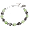 Disney Alex and Ani Charm Bracelet - Mickey Green Bead Wrap