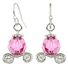 Disney Earrings - Pink Carriage