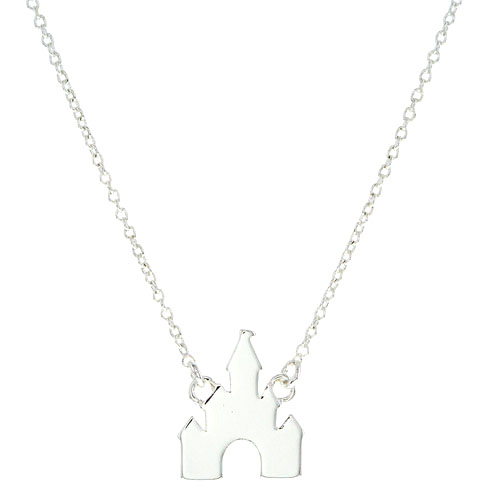 Your Wdw Store Disney Necklace Castle 18 Silver Tone