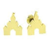 Disney Earrings - Castle - Gold Tone