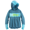 Disney Womens Hooded Shirt - Powertrain by Champion - Teal
