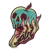 Disney Sticker - Poison Apple by Quiggle