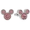 Disney Earrings - Mickey Icon - Crystal Studs - Red