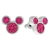 Disney Earrings - Mickey Icon - Crystal Studs - Pink